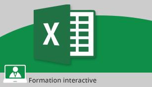 Formation Excel 2016 - Devenez utilisateur confirmé - Valable 1 an, à volonté,