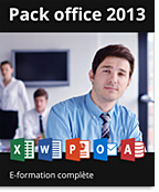 Pack Office 2013 - Formations complètes : Excel + PowerPoint + Word,