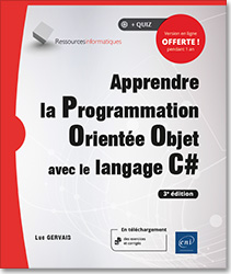 Apprendre la Programmation Orientée Objet avec le langage C# (3e édition), livre poo , c sharp , c # , encapsulation , héritage , polymorphisme , abstraction , multithread , Windows Forms , uml , VS 2015 express , .net , dot net , net , LNRI3CAPOO