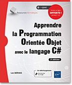 Apprendre la Programmation Orientée Objet avec le langage C# (3e édition), livre poo, c sharp, c #, encapsulation, héritage, polymorphisme, abstraction, multithread, Windows Forms, uml, VS 2015 express, .net, dot net, net, LNRI3CAPOO