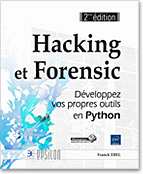 Hacking et Forensic, scapy, socket, PyDbg, Fuzzing, Sulley, PIL, capchat, stéganographie, cryptographie , LNEP2HAFO