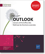 Outlook (versions 2019 et Office 365), Microsoft, message, e-mail, mail, calendrier, contact, tâche, notes, spam, Outlook2019, Outlook19, archivage, signature, dossiers, LNRB19OUTFA