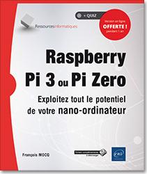 couverture du livre Raspberry Pi 3 ou Zéro