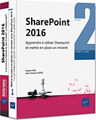 SharePoint 2016, Intranet, site d'équipe, bibliothèque de documents, versioning, partage de documents, tâche, calendrier, forums de discussion, en quêtes, contacts, wiki, centre de recherche, blog, livre sharepoint, sharepoint 2016, GED, pilote, pilotage, workflow, réseau social, RSE, Office 365, livre sharepoint