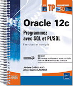 Oracle 12c, livre oracle, sql ddl, slq dml, ts0048