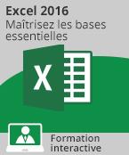 Formation Excel 2016 - Maîtrisez les bases essentielles,