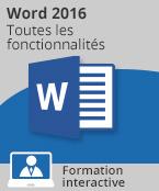Formation Word 2016 - Toutes les fonctionnalités de Word à votre portée,