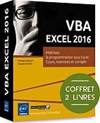 VBA EXCEL 2016, microsoft,  macro-commande, macro commande, office, api, excel vba, excel 2016, office 2016, livre VBA, objet, langage objet, programmation, macro, macros, Visual Basic, VB