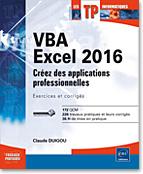 VBA Excel 2016, microsoft, livre VBA, objet, langage objet, programmation, macro, macros, macro-commande, Visual Basic, VB, Office 2016